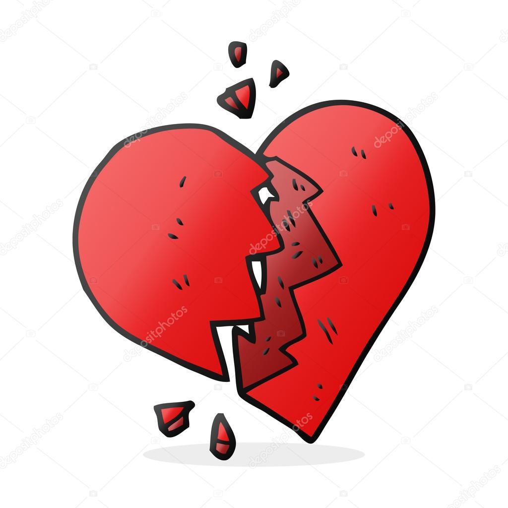 Cartone animato cuore spezzato vettoriali stock for Scarica clipart