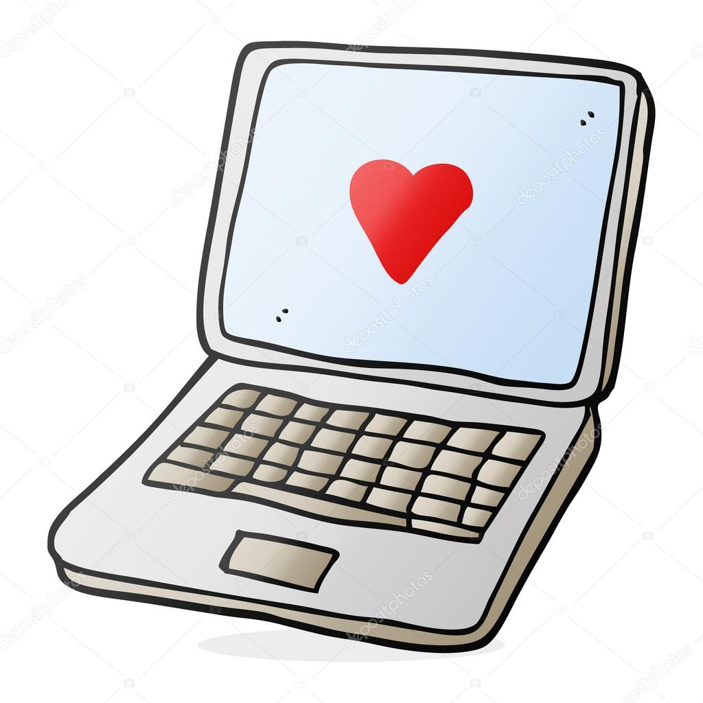 Cartoon laptop computer with heart symbol on screen stock vector cartoon laptop computer with heart symbol on screen stock vector buycottarizona Choice Image