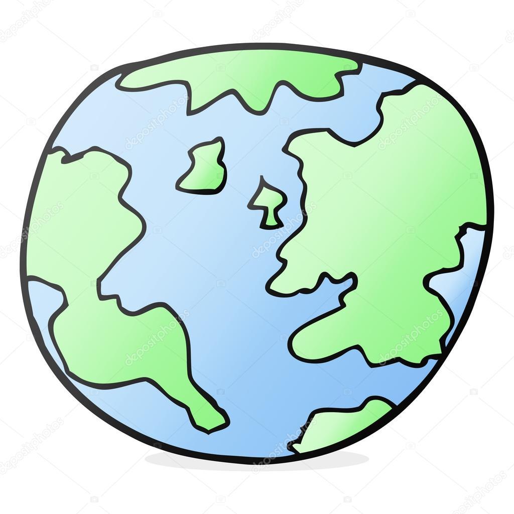 Dessin Animé La Planète Terre Image Vectorielle Lineartestpilot