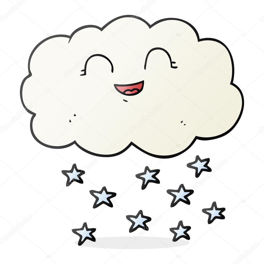 Dessin anim de nuages qu il neige image vectorielle - Nuages dessin ...