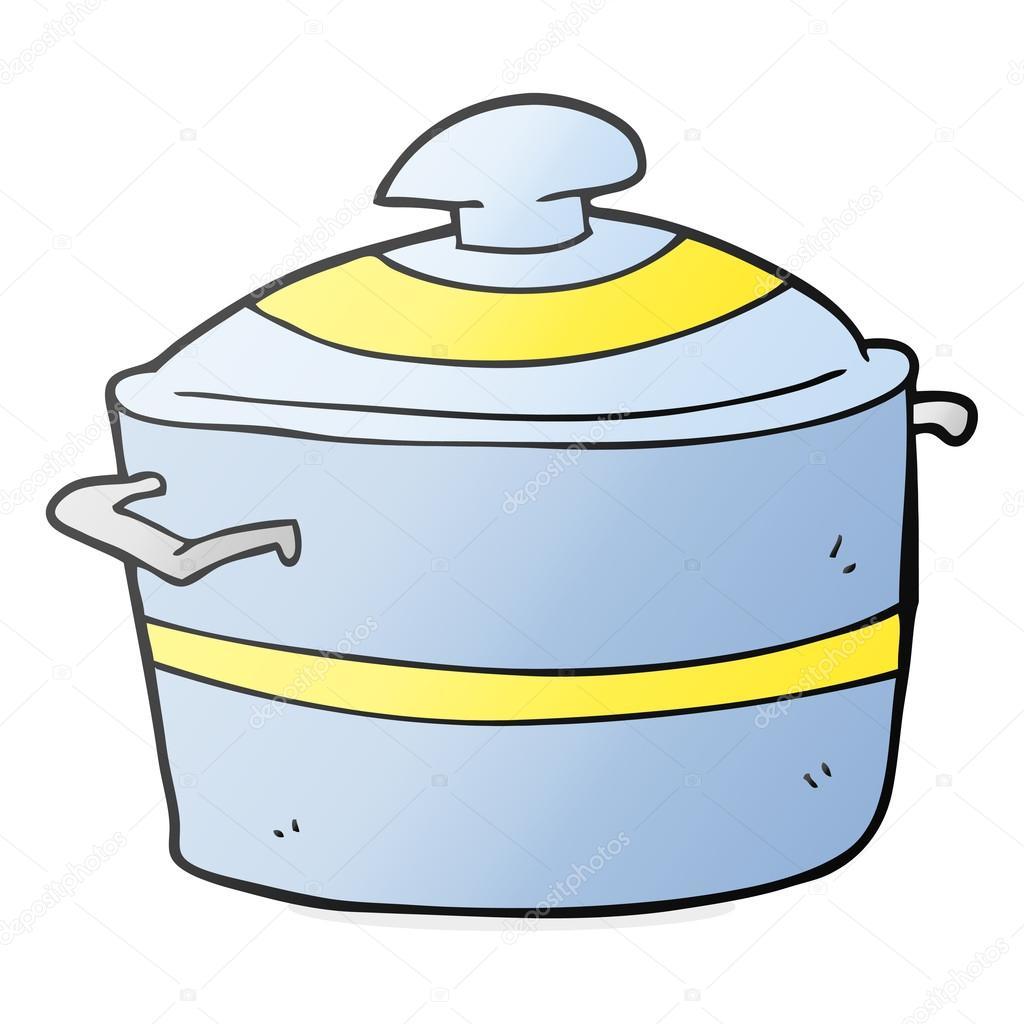 Dessin Marmite dessin animé la marmite — image vectorielle lineartestpilot © #101928908