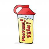 Kreslený proteinový koktejl