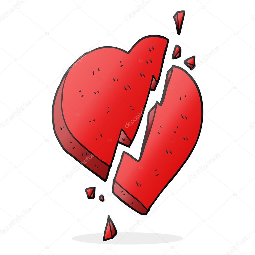 Cartoon Broken Heart Symbol Stock Vector Lineartestpilot 101933820
