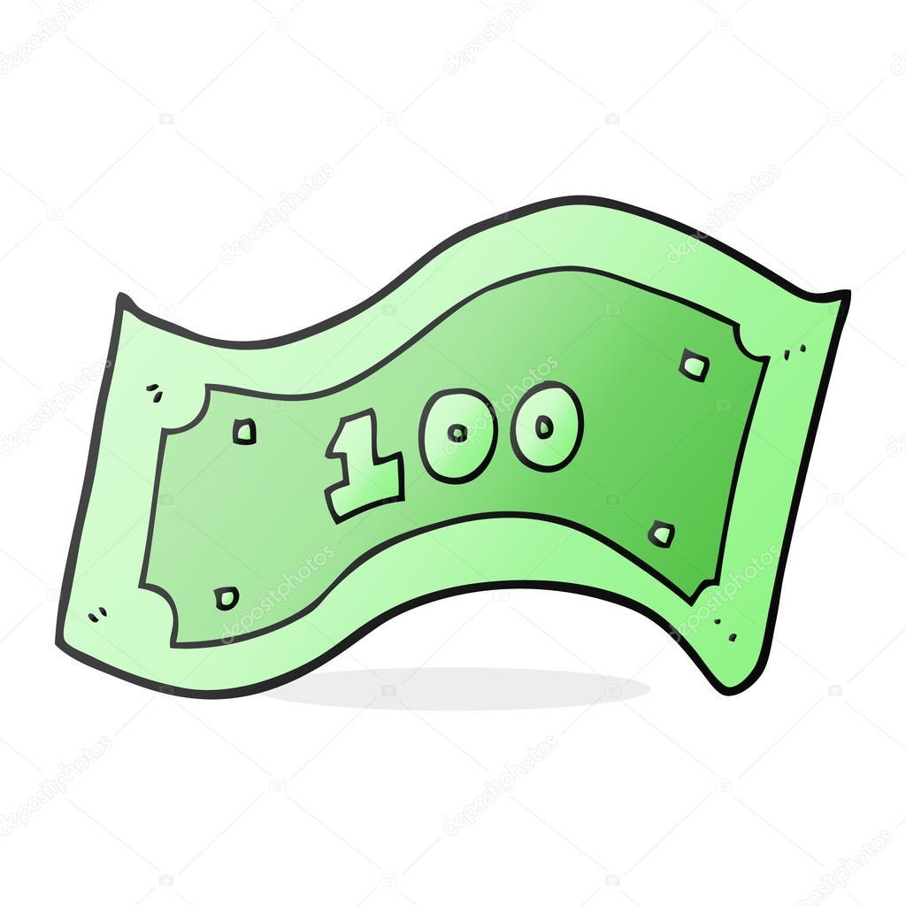 Dibujos Dolares Animados Billete De 100 Dólares De