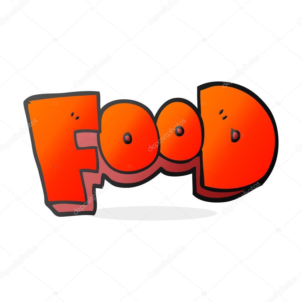 Cartoon word food — Stock Vector © lineartestpilot #101974002