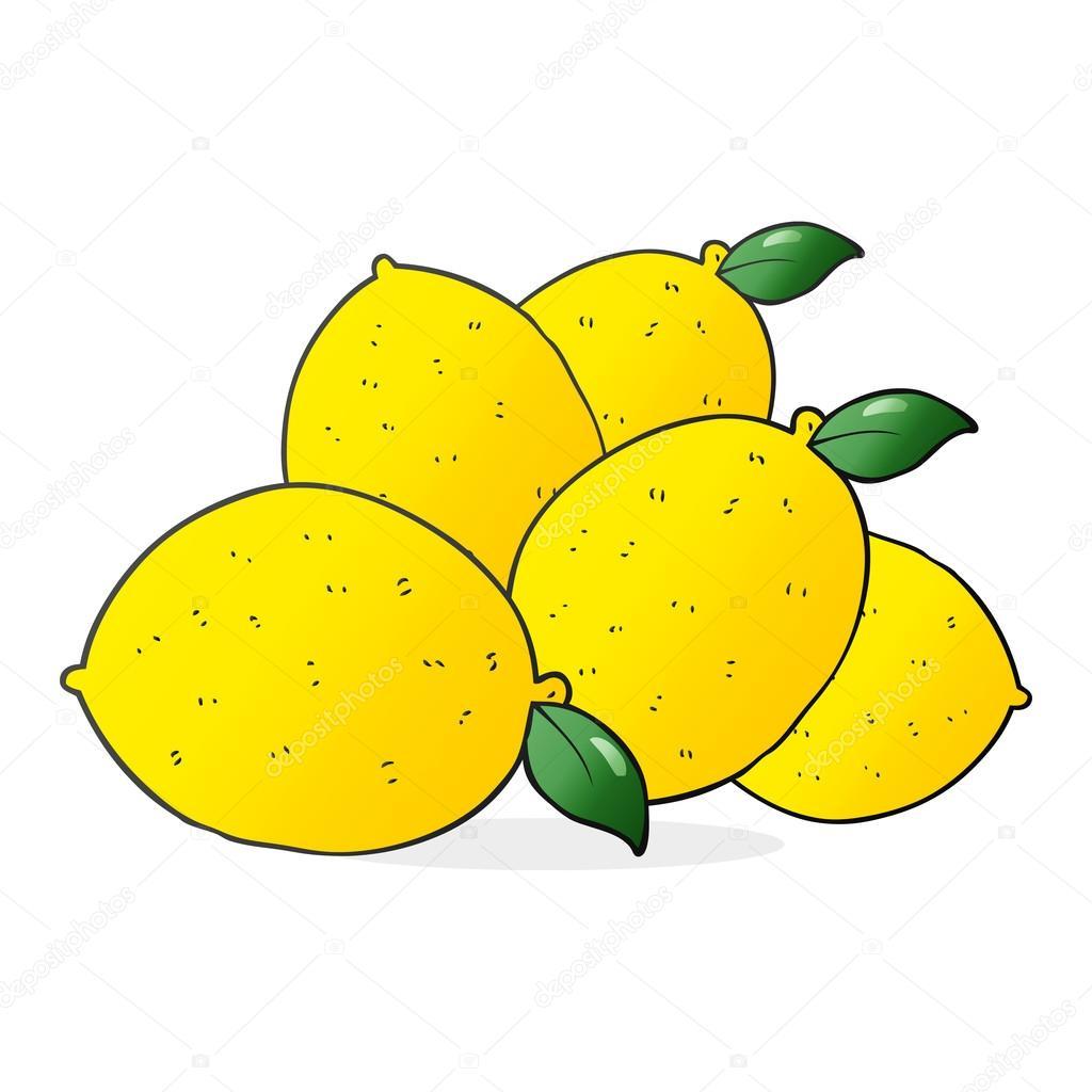 Od Ruky Kreslene Nakreslene Citrony Stock Vektor C Lineartestpilot