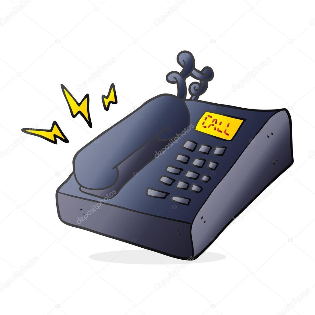Tel fono de oficina de dibujos animados archivo im genes vectoriales lineartestpilot 101980892 - Telefono de oficina de ryanair ...
