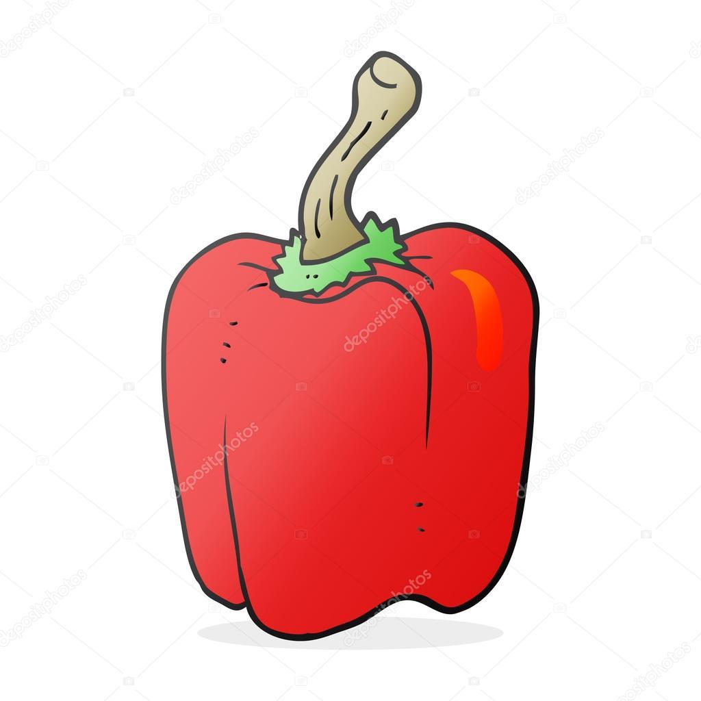 Pimiento rojo de dibujos animados dibujados a mano alzada - animado  dibujo  pimiento rojo — Vector de lineartestpilot — Vector de lineartestpilot d6f2586599d