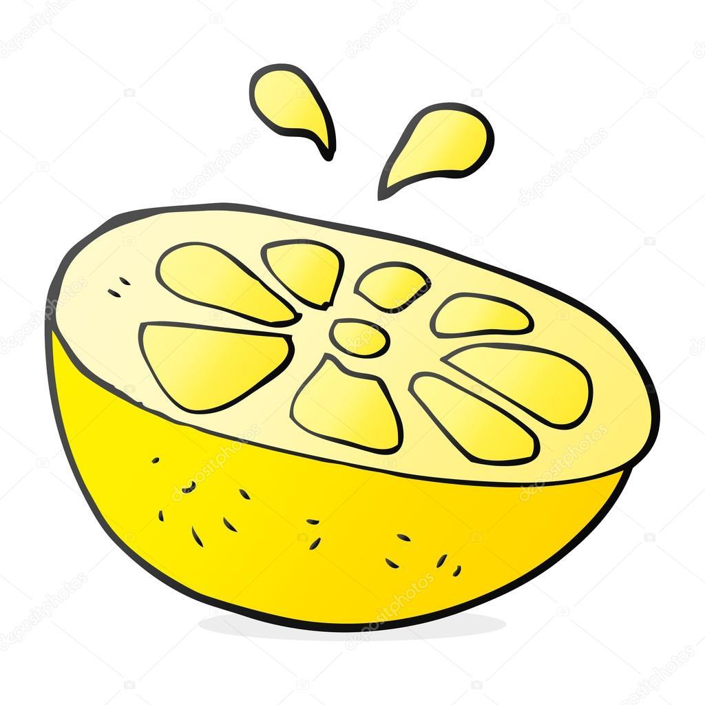Od Ruky Kreslene Nakreslene Citron Stock Vektor C Lineartestpilot