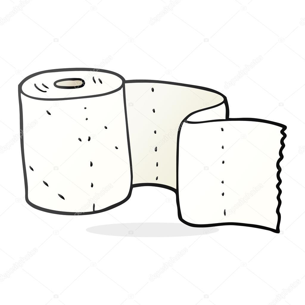 rouleau de papier toilette de dessin anim image vectorielle lineartestpilot 101984592. Black Bedroom Furniture Sets. Home Design Ideas
