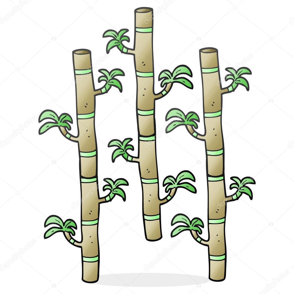 Freihand Gezeichnete Cartoon Bambus Stockvektor C Lineartestpilot