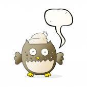 řeči bubliny cartoon sova
