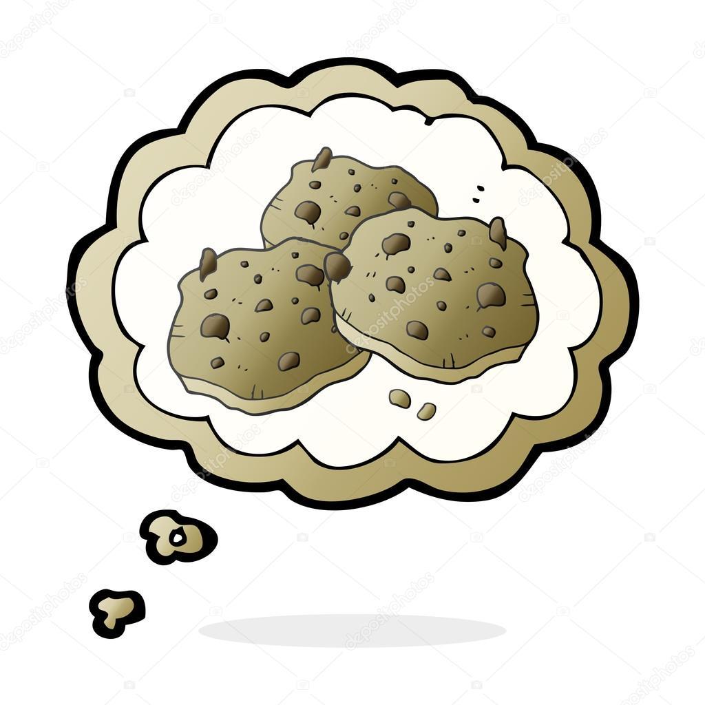 galletas de chispas de chocolate dibujos animados burbujas de ...