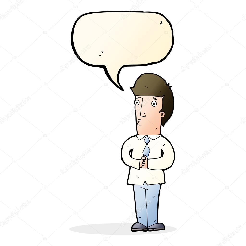Uomo nervoso dei cartoni animati con nuvoletta u vettoriali stock