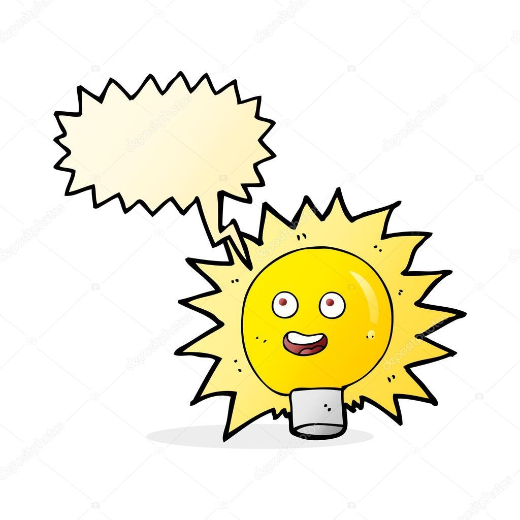 Cartoon electric light bulb with speech bubble stock vector cartoon electric light bulb with speech bubble stock vector publicscrutiny Images