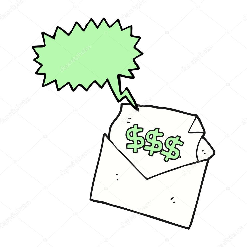 Carta de bill discurso burbuja cartoon — Vector de stock ...