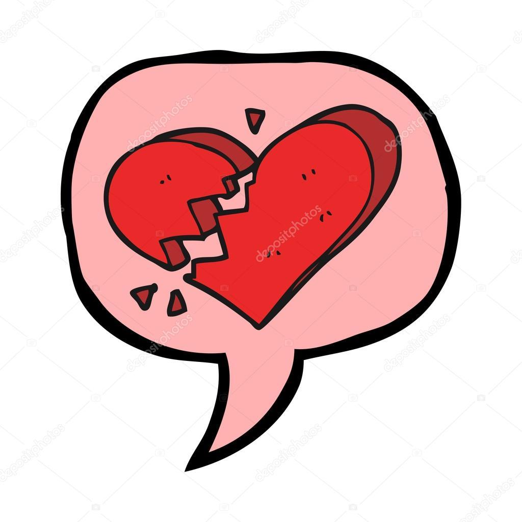 Dibujos Animados De Burbujas De Discurso Corazón Roto