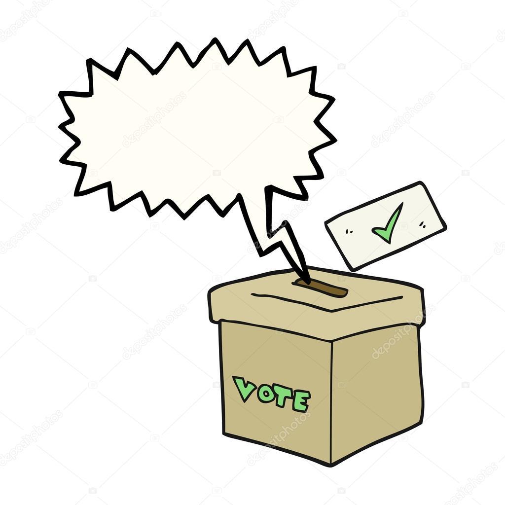 卡通投票箱图片大全_演讲泡沫卡通投票箱 — 图库矢量图像© lineartestpilot #102565004