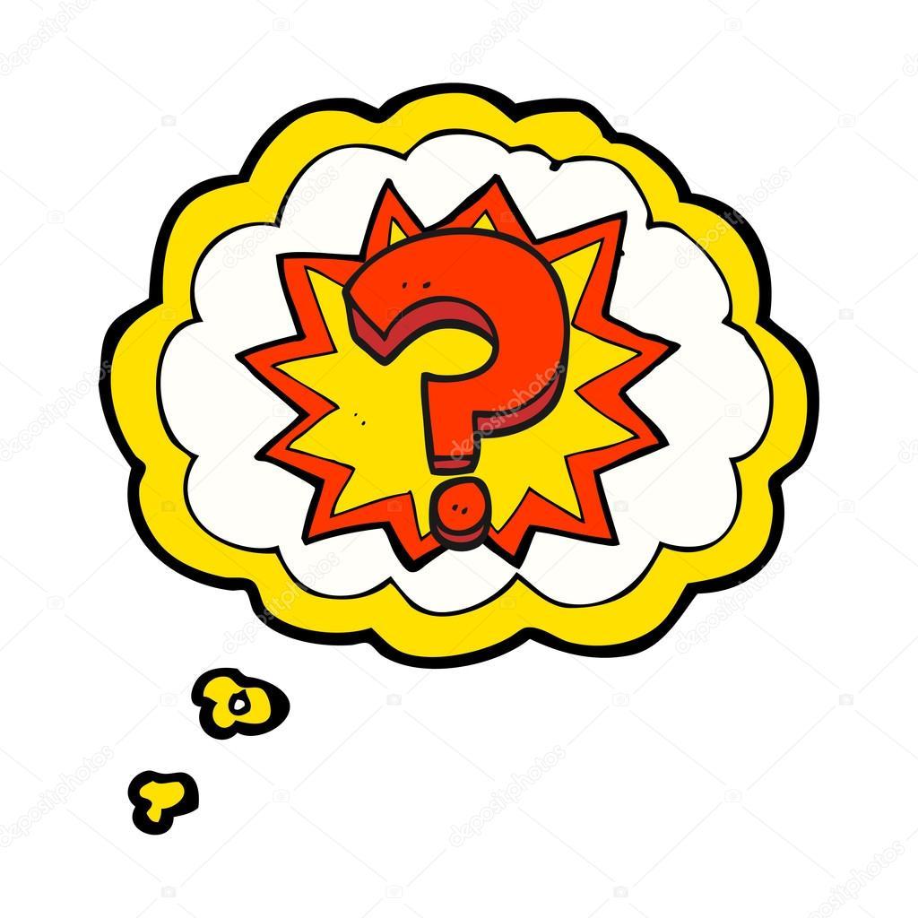 thought bubble cartoon question mark stock vector