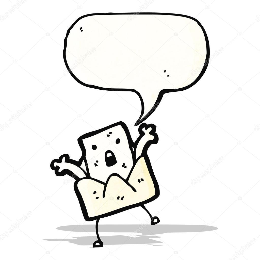 carta con dibujos animados de burbujas de discurso — Archivo ...
