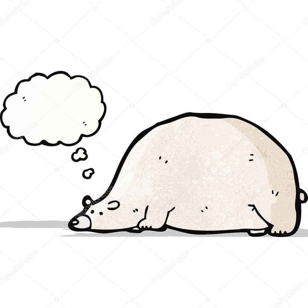 Cartone animato divertente orso polare — vettoriali stock