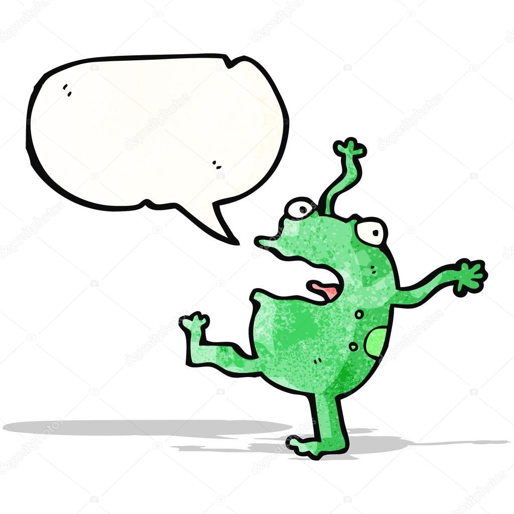 Ballare il personaggio dei cartoni animati di rana