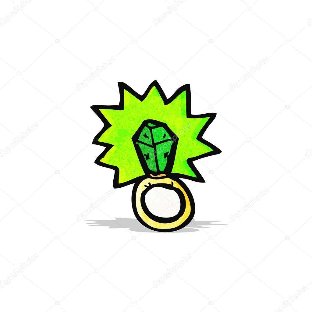 Cartone animato anello magico — vettoriali stock