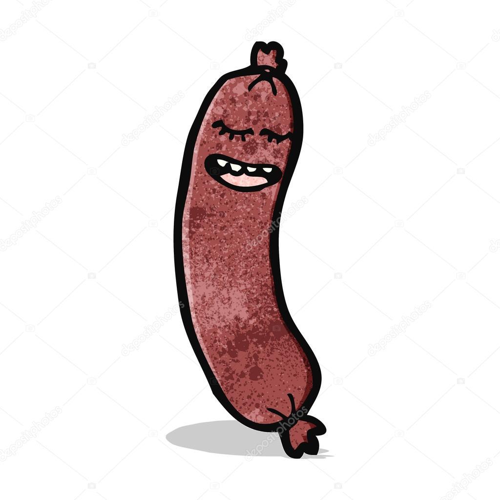 Cartone animato salsiccia u2014 vettoriali stock © lineartestpilot #54454161