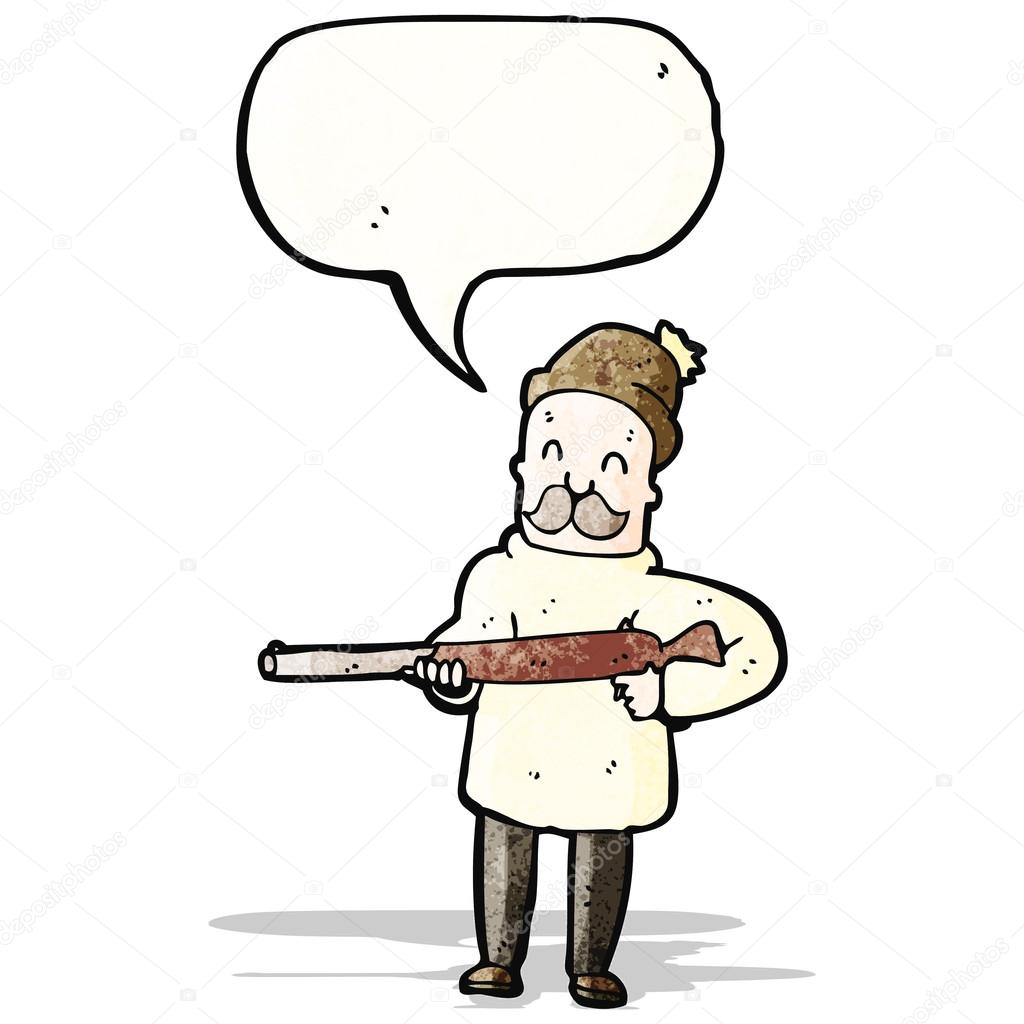 Cacciatore di cartone animato — vettoriali stock