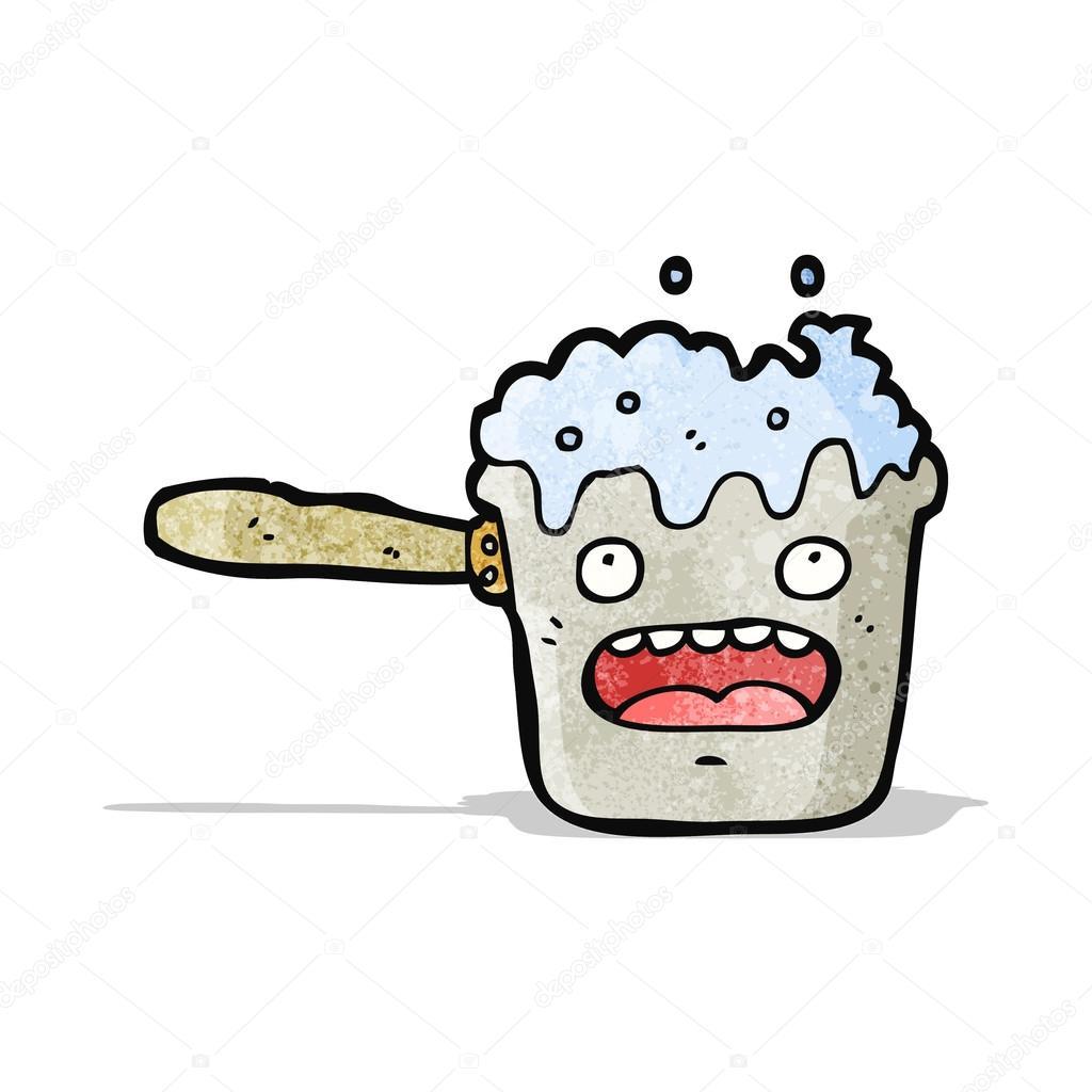Dessin Casserole Cuisine casserole de cuisine dessin animé — image vectorielle