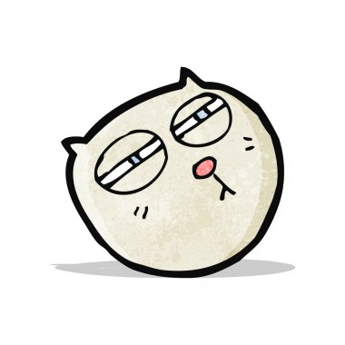 cartoon cat with narrowed,eyes