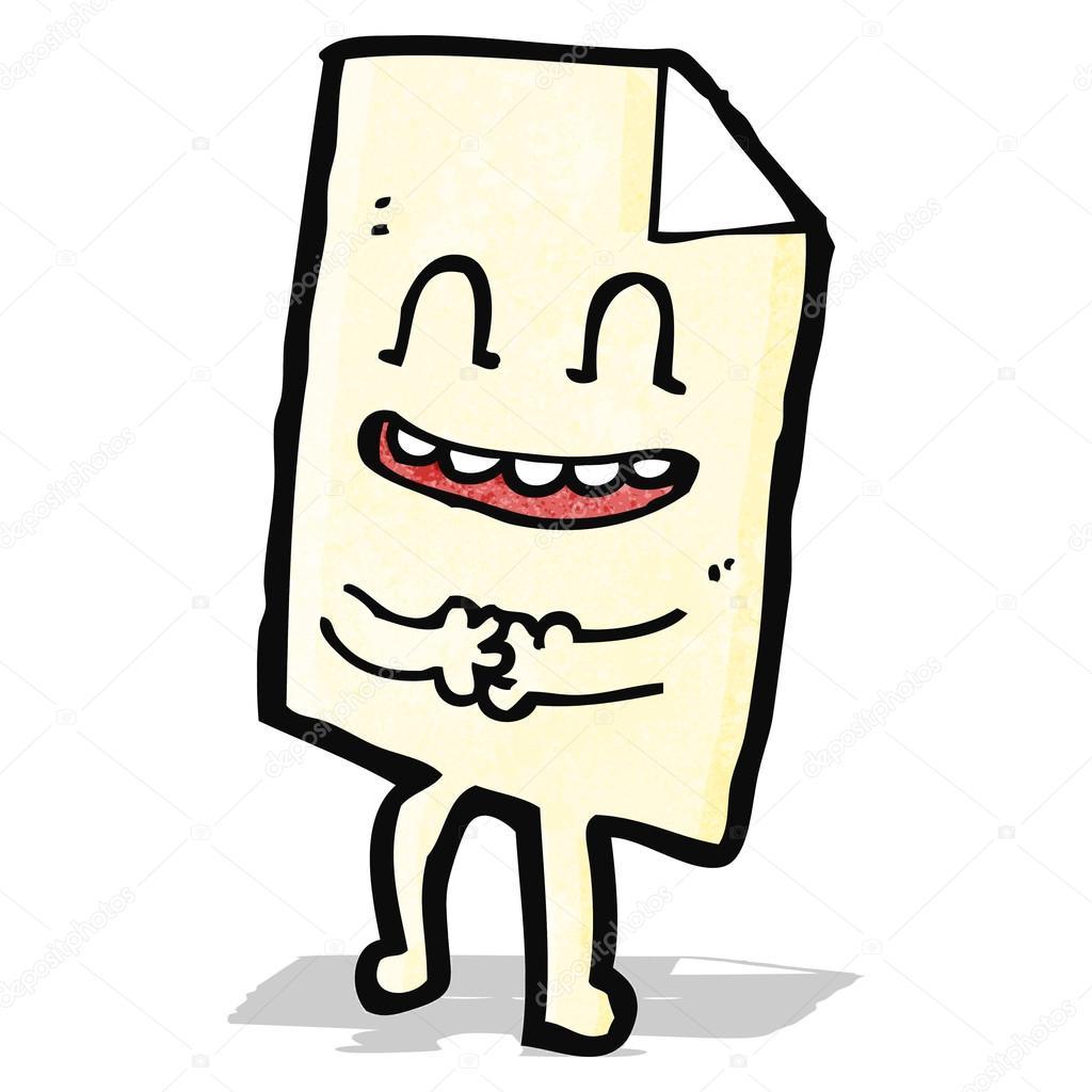 Personagem De Desenho Animado De Folha De Papel Vetor De Stock