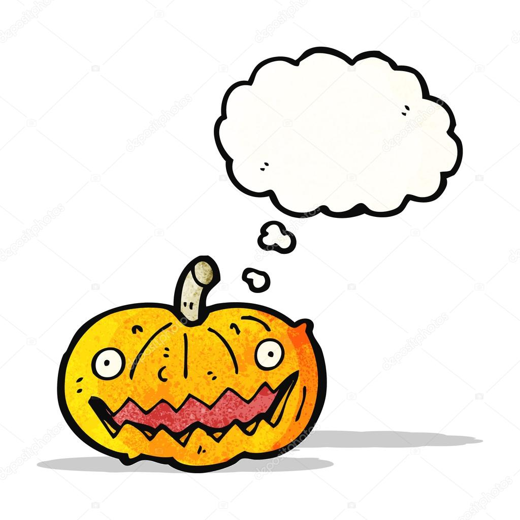 dibujos animados de calabaza de halloween espeluznante — Archivo ...