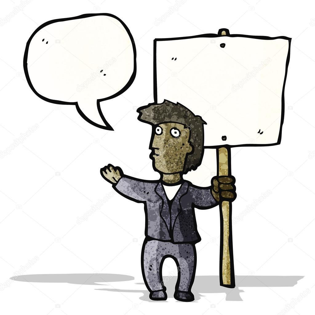 Dibujos Animados De Protesta Política Vector De Stock