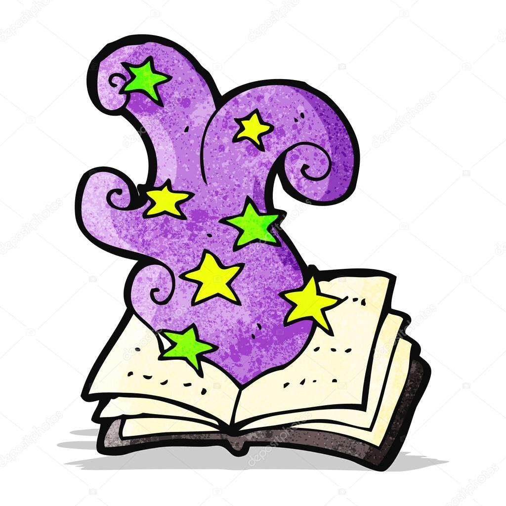 Cartoon Magic Spell Book Vector Image By C Lineartestpilot Vector Stock 58076937