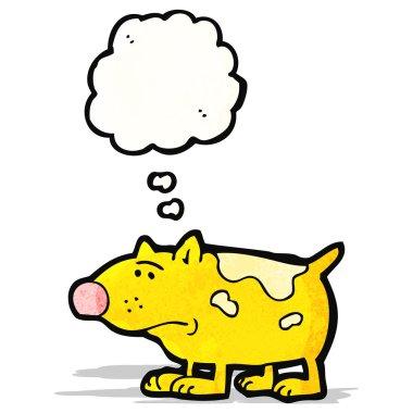"Картина, постер, плакат, фотообои ""Мультфильм собака с мысли пузырь"", артикул 59595179"