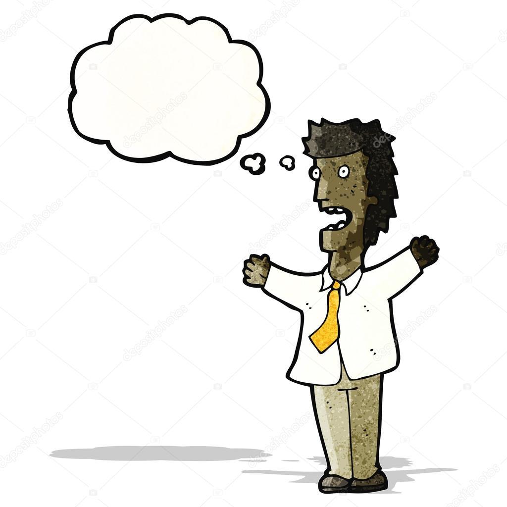 Cartone animato stressato uomo d affari — vettoriali stock