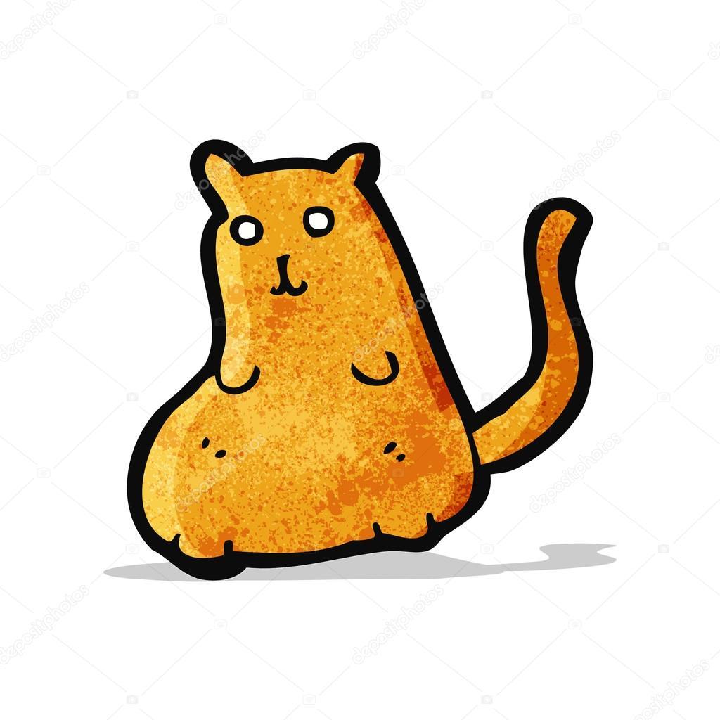 Cartone animato gatto grasso u vettoriali stock lineartestpilot