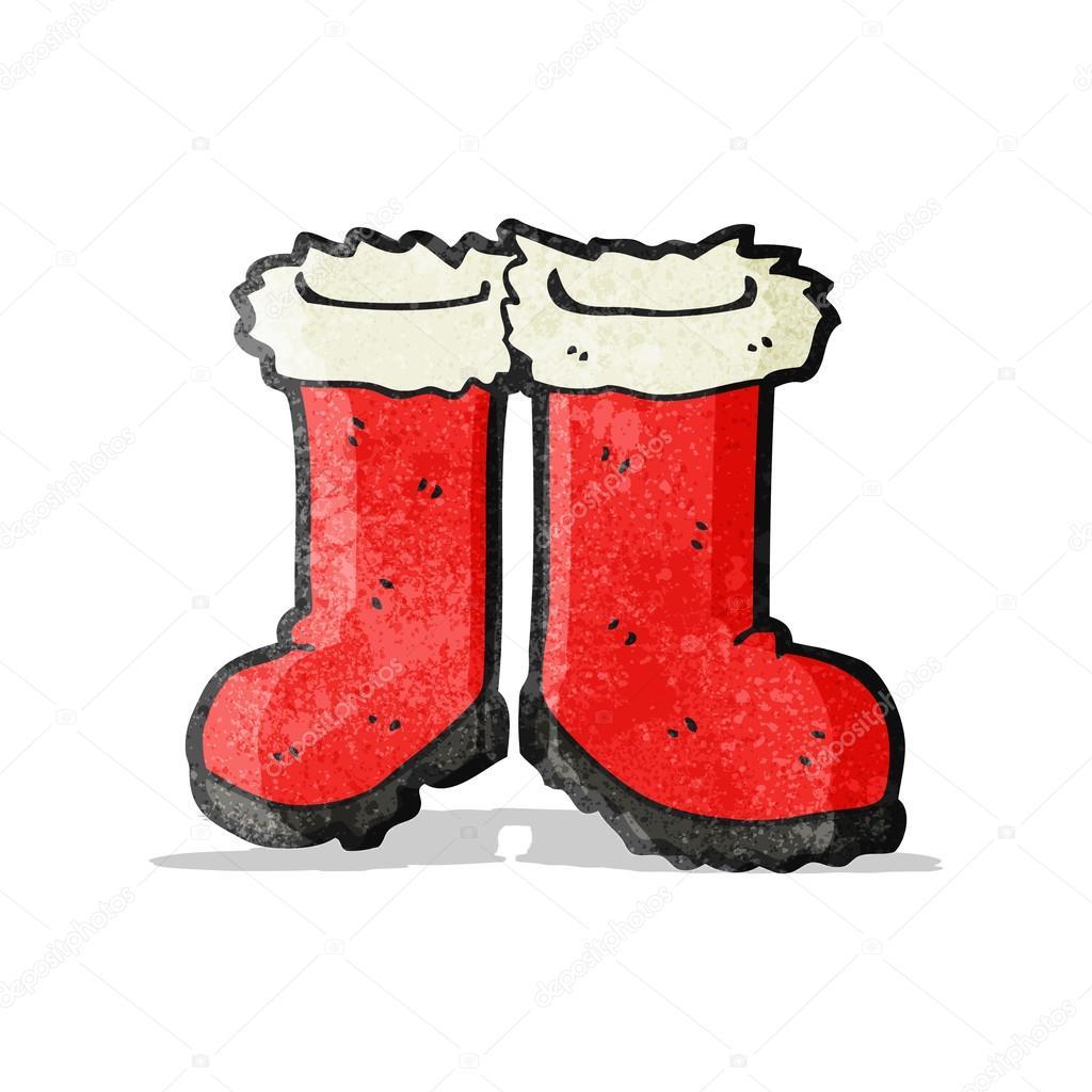 Dessin Botte De Noel.Dessin Animé Les Bottes Du Père Noël Image Vectorielle