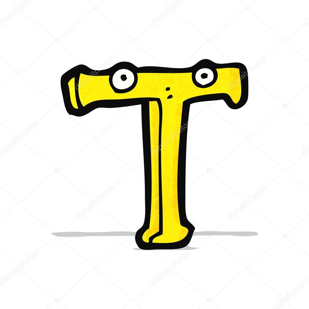Dibujos Animados De Letra T Archivo Imágenes Vectoriales