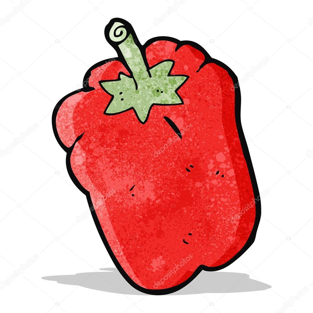 Pimiento rojo de dibujos animados - animado  chile pimiento animadas —  Vector de lineartestpilot — Vector de lineartestpilot bf565534a56
