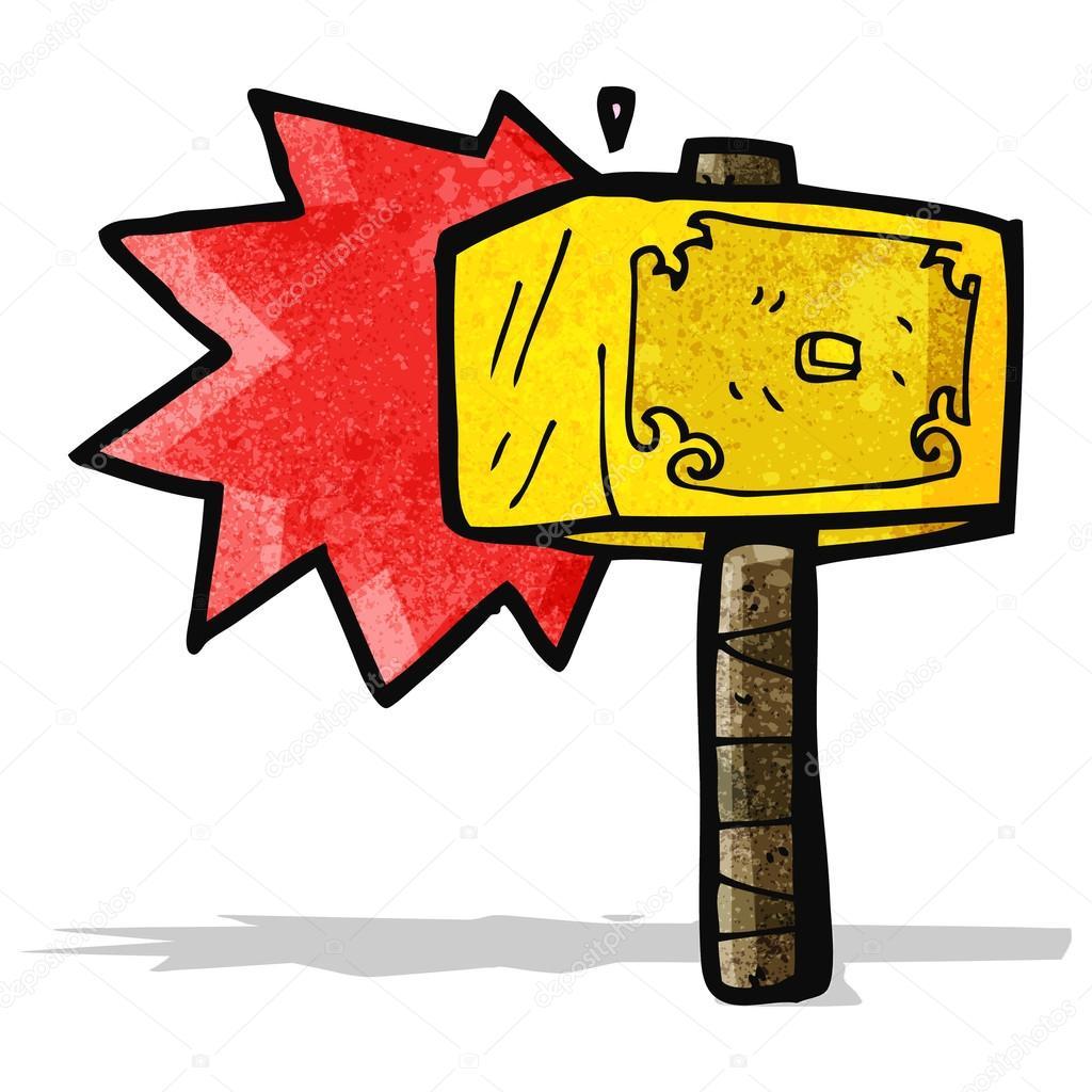 Cartoon Hammer Of Thor Stock Vector C Lineartestpilot 59663809