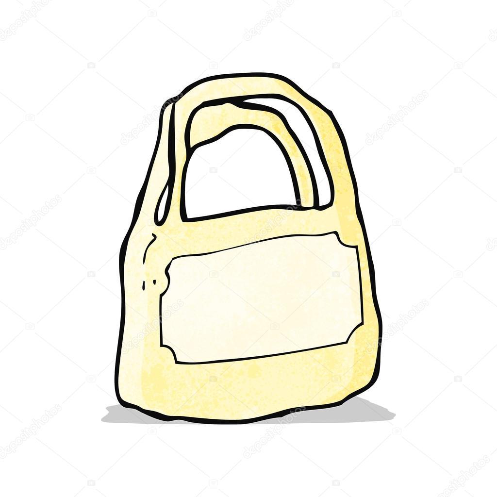 Bolsa De Plástico De Dibujos Animados Archivo Imágenes Vectoriales