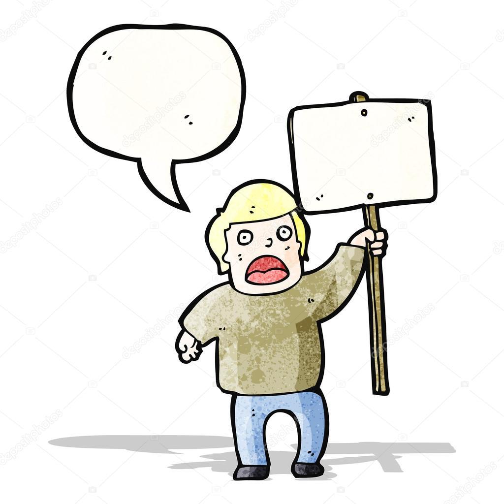 Dibujo Caricatura Politica Caricatura Política Protestante Con