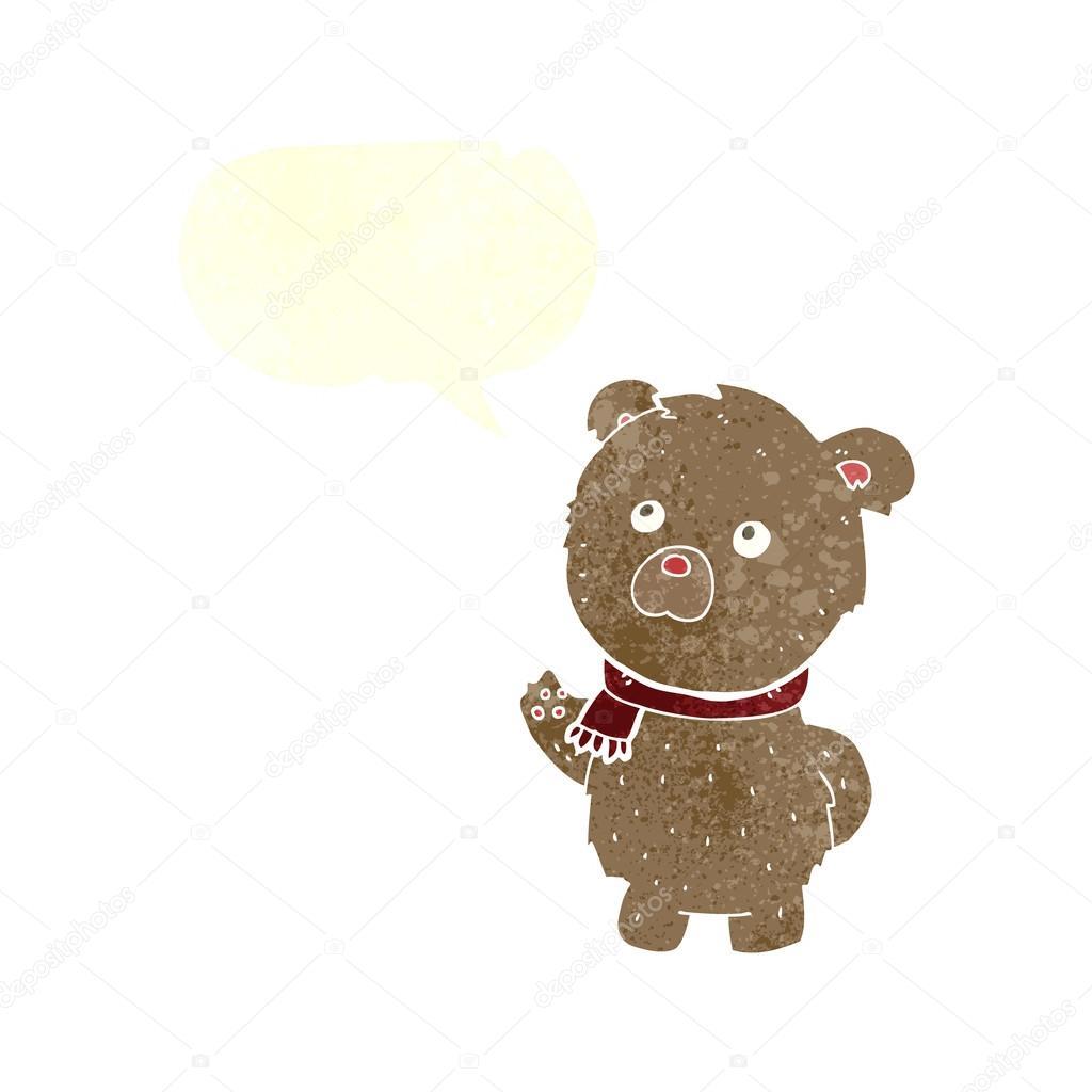 Cartone animato orsetto con nuvoletta u2014 vettoriali stock
