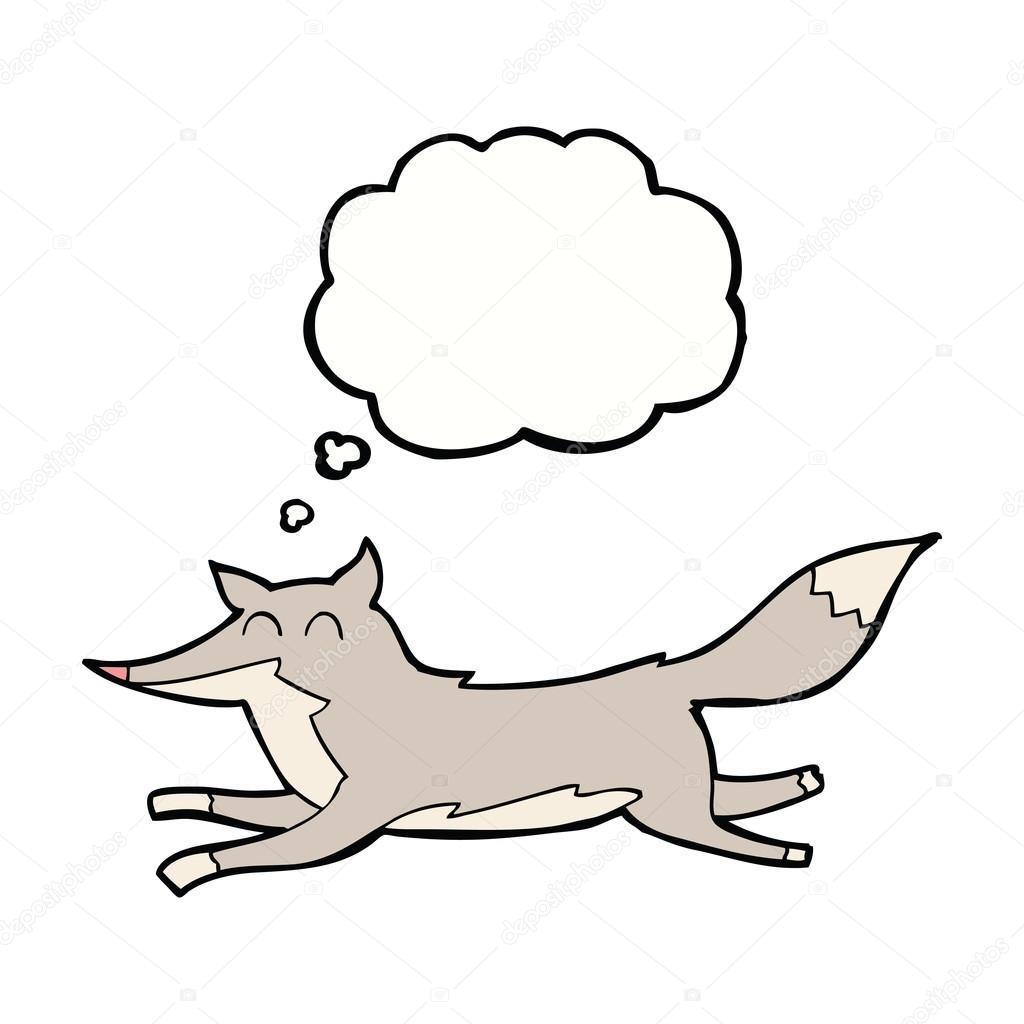 Dibujos Lobos Corriendo Dibujo Lobo Corriendo Con La Burbuja De