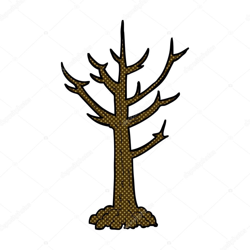 Arbre nu dessin anim comique image vectorielle - Dessin arbre nu ...