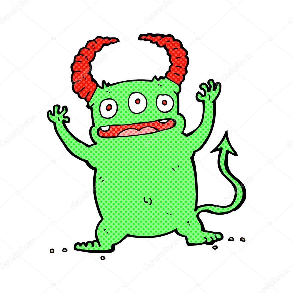 Fumetti Fumetto Piccolo Diavolo Vettoriali Stock Lineartestpilot
