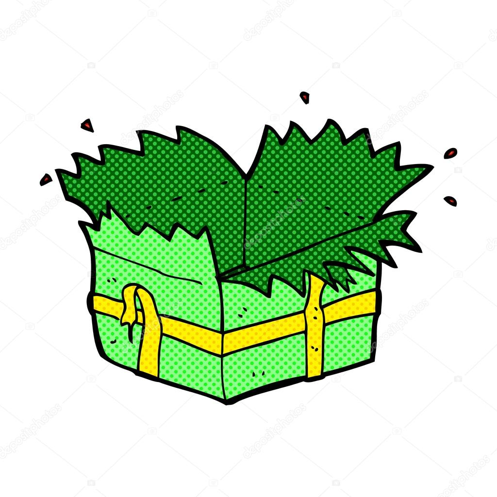 open present clipart. comic cartoon open present u2014 stock vector 73597681 clipart