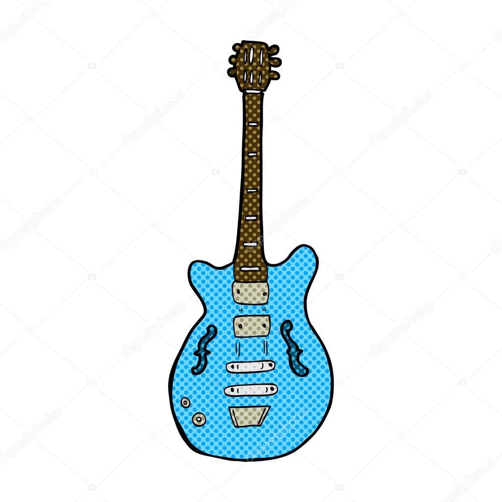 Guitarra Electrica Comica Guitarra Eléctrica De Historieta